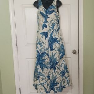Talbot's Blue Floral Maxi